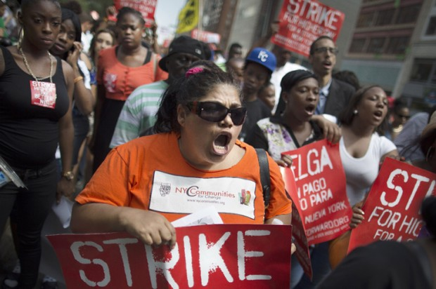 Wal-Mart strike in NYC July 2013
