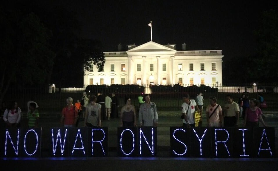 Syria No War White House Light Brigade