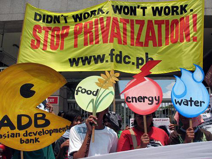 Privatization protest