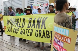 World Bank land and water grab protest