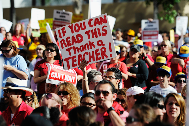 Teachers Rally To Highlight Proposed Budget Cuts
