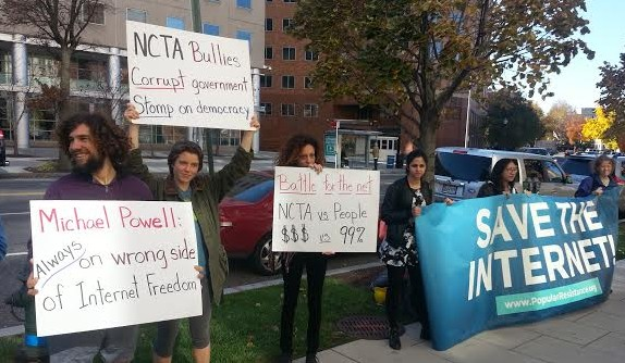 Popular Resistance protest at the National Cable and Telecommunications Association on November 13, 2014.