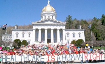 Healthcare is a human right Vermont 2011
