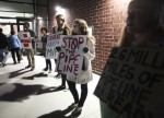 Rocky Mount pipeline protest by ERICA YOON  of the The Roanoke Times