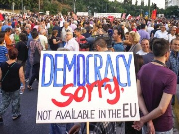 Greece Democracy not available in EU