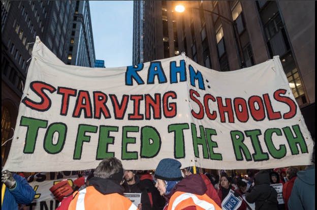 Chicago Teachers Protest Feb, 4, 2016 Twitter